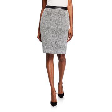 Static Tweed Pencil Skirt
