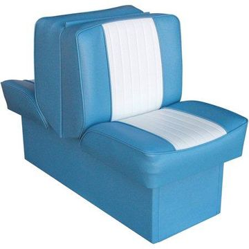 Wise 8WD707P-1-663 Deluxe Series Lounge Seat, Light Blue-White
