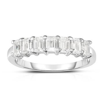 Noray Designs Platinum 7-Stone Emerald Cut Diamond (1.00 Ct, G Color, VS Clarity) Ring