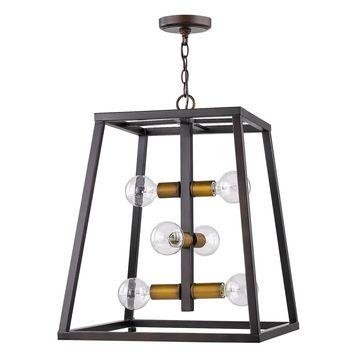 Acclaim Lighting Tiberton 6-Light Pendant (Bronze)