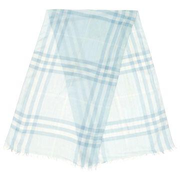 Burberry Blue Cotton Scarves