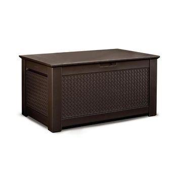 Rubbermaid 46-in L x 28.5-in 93-Gallon Dark Basketweave Deck Box