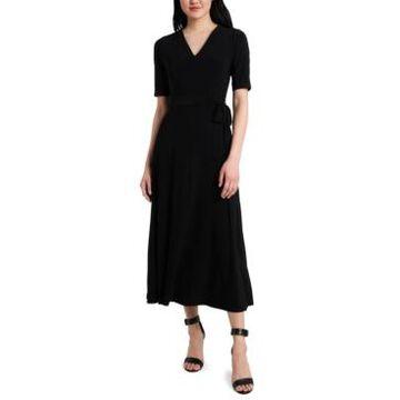 Msk Petite Tie-Waist Midi Dress