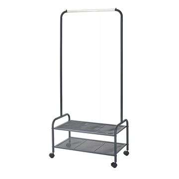 neatfreak Rolling Garment Rack With 2 Shelves