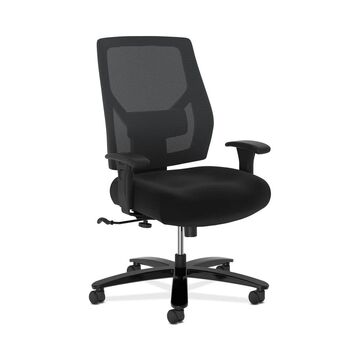 HON Crio High-Back Big and Tall Chair - Fabric Mesh Back Computer Chair for Office Desk, Black (BSXVL585SB11T)