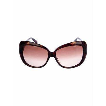 Oversize Gradient Sunglasses Brown