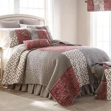 Donna Sharp Fleur De Lis Square Cotton Quilted Bedding (King)