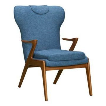 Armen Living Ryder Chair in Blue