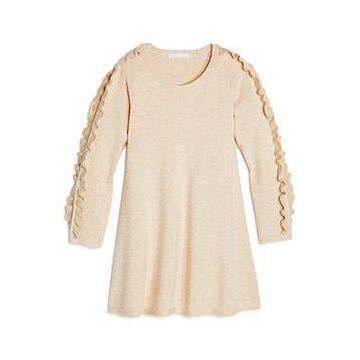 Chloe Girls' Ruffle-Sleeve Sweater Dress - Little Kid, Big Kid