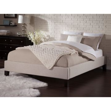 Atlantic Furniture Upholstered Queen Platform Bed Frame