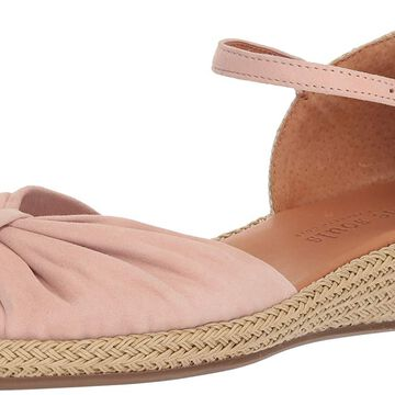 Gentle Souls Womens Lucille Leather Peep Toe Casual Ankle Strap