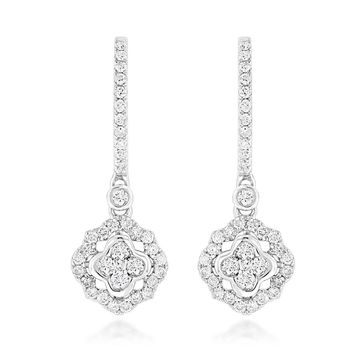 Luxurman 14k Gold 1ct TDW Diamond Drop Earrings