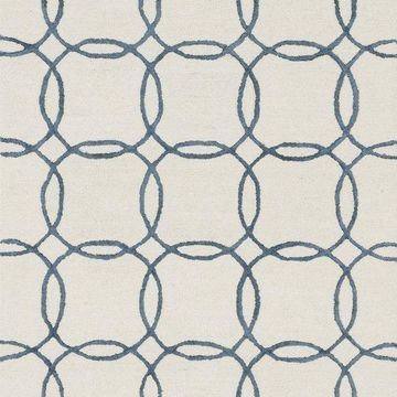 Loloi Rugs Panache Collection Ivory and Blue, 7'6