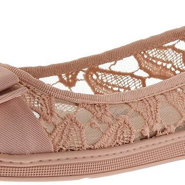 Soft Style Womens Fagan Leather Round Toe Ballet Flats
