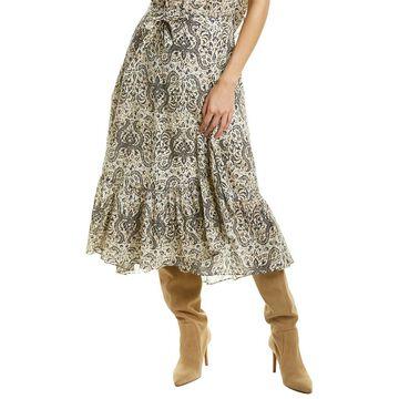 Figue Aurora Silk Wrap Skirt
