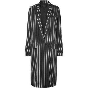Haider Ackermann Striped Matte-satin Coat