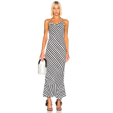 SALONI Stella B Dress in Brushstroke Stripe | FWRD