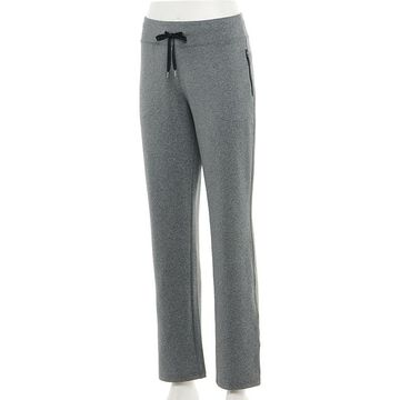 Women's Tek Gear Performance French Terry Pants, Size: Small, Dark Grey
