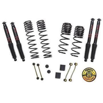 Skyjacker JL20BPBLT Long Travel Series Suspension Lift Kit w/Shocks; 2-2.5 in. Lift; Incl. Long Travel Coil Springs; Extended Sway Bar Links; Bump Stop Extensions; Long Travel Black Max Shocks;