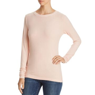 Three Dots Womens Ribbed Crew Neck Thermal Top
