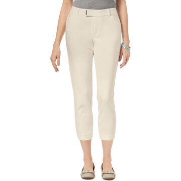 Charter Club Womens Embellished Mid-Rise Cropped Pants