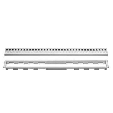 Schluter Systems Kerdi-Line Brushed Stainless Steel Shower Drain   KL1B19EB180