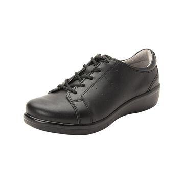 Alegria Women's Sneakers BLACK - Black Out Cliq Leather Sneaker - Women