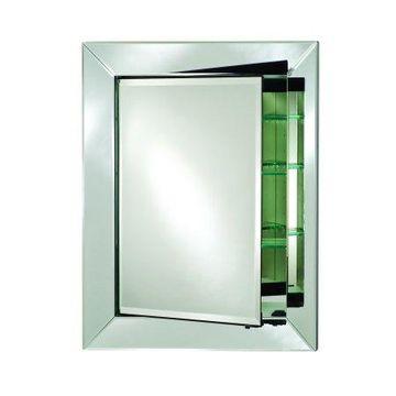 Afina Radiance Single Door Contemporary Medicine Cabinet- Large