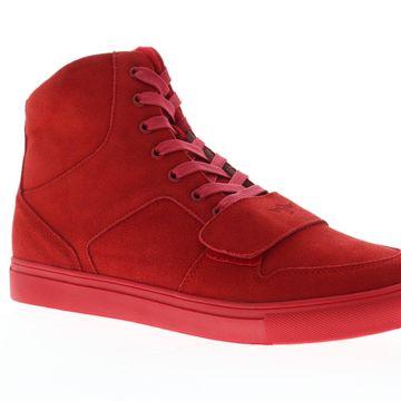 Creative Recreation Cesario X Red Suede Mens High Top Sneakers
