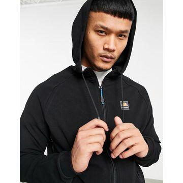 ellesse Blakoni logo taping zip hoodie in black