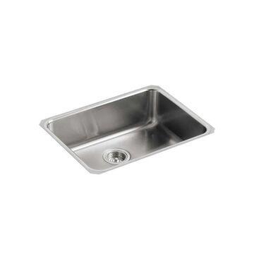 KOHLER Undertone Undermount 23-in x 17.5-in Stainless Steel Single Bowl Kitchen Sink   3332-NA