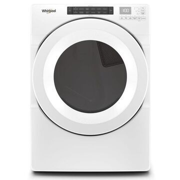 Whirlpool 7.4-cu ft Front Load Stackable Vented Electric Dryer with Intuitive Controls - White