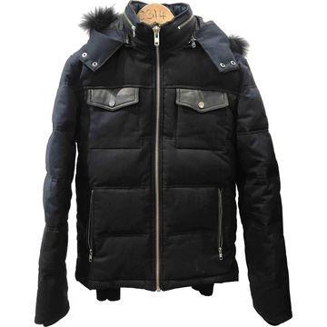 The Kooples Blue Cotton Leather jackets