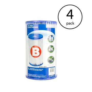 Intex 4-Pack 50-sq ft Pool Cartridge Filter | 108351