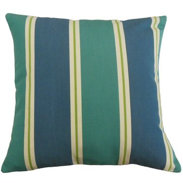 The Pillow Collection Quiqui Striped Decorative Throw Pillow