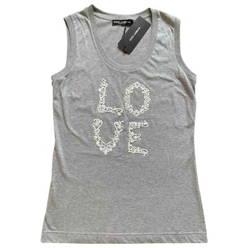 Dolce & Gabbana Grey Cotton Tops