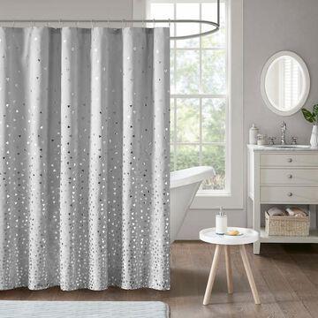 Intelligent Design Liv Metallic Printed Shower Curtain