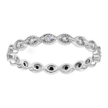 Beverly Hills Charm 10kt White Gold 1/4ct Diamond Vintage Eternity Ring