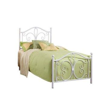 Hillsdale Furniture Ruby Twin Metal Bed, Textured White