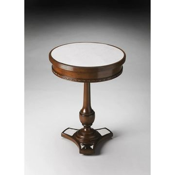 Handmade Butler Adele Mirror and Mahogany End Table (Dark Brown)