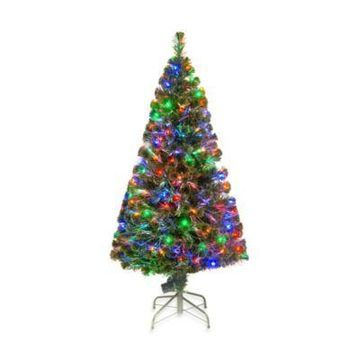 National Tree Company 5-Foot Fiber Optic Evergreen Pre-Lit Christmas Tree with Multicolored Lights