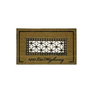 Bacova Guild Koko Framed Grate Printed Rectangular Outdoor Doormat