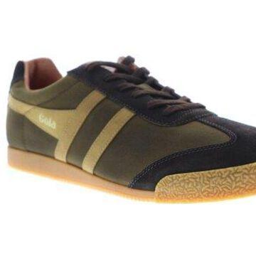 Gola Harrier Millerain Olive Brown Mens Low Top Sneakers