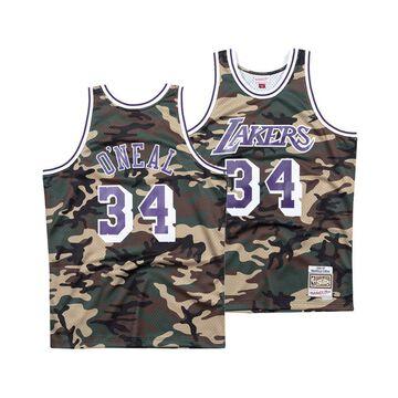 Men's Shaquille O'Neal Los Angeles Lakers Woodland Camo Swingman Jersey