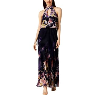 Xscape Womens Evening Dress Halter Pleated