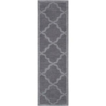 Artistic Weavers Central Park Abbey 2'3 X 14' Handcrafted Runner In Charcoal Grey