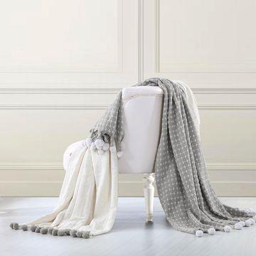 Amrapur Overseas 2 Pack 100-percent Cotton Cross-stitch Throws