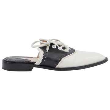Altuzarra Ecru Leather Flats