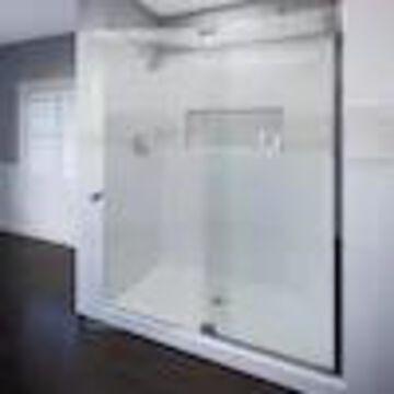 Basco Cantour 32-in to 36-in W Frameless Pivot Chrome Shower Door