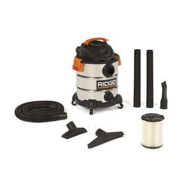 10 Gallon 6.0 Peak HP Wheeled Stainless Steel Wet Dry Vacuum Home Cleaning Tool